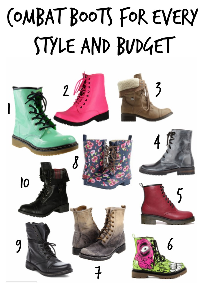 combat boots for every style