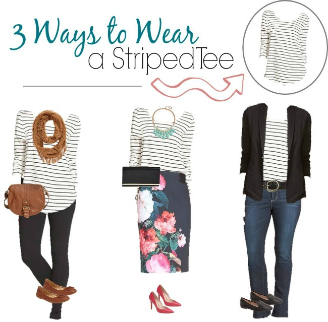 3 Ways to Wear Striped Tee