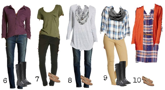 Target Mix and Match fall Fashion wardrobe 6-10