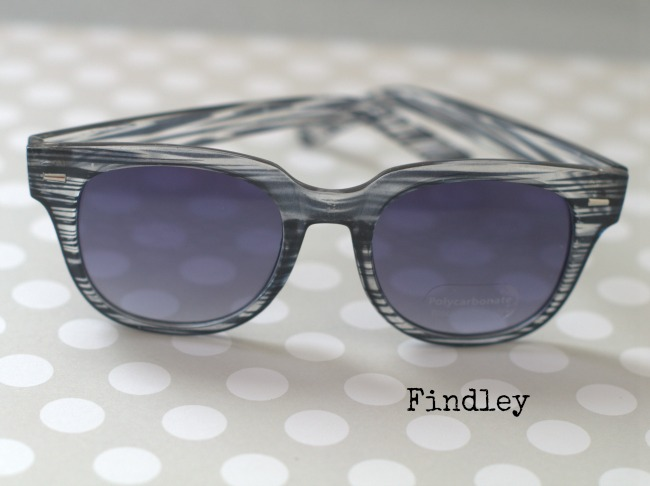 findley striped sunglasses