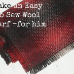 Make this Easy Fringed No Sew Scarf for Him – or Her