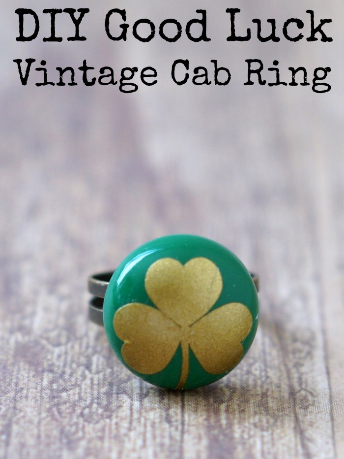 DIY Good Luck Vintage Cab Ring