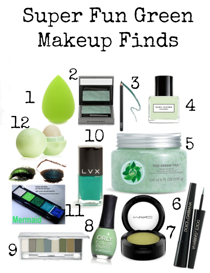 Super Fun Green Makeup Finds