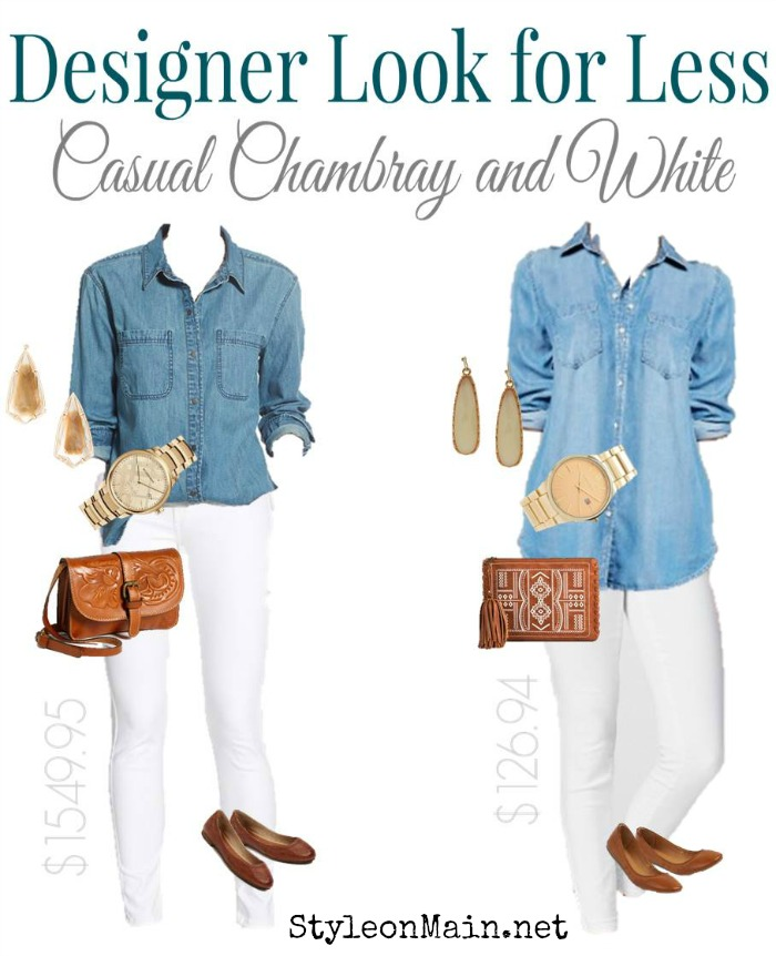 Chambray and white denim is always hot. Get the designer look at a fraction of the price.