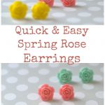How to Make Quick and Easy Spring Rose Flower Earrings