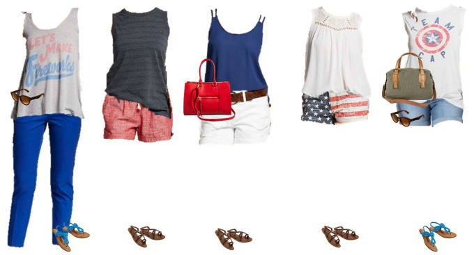 Patriotic Mix and Match Fashion - Target Styles