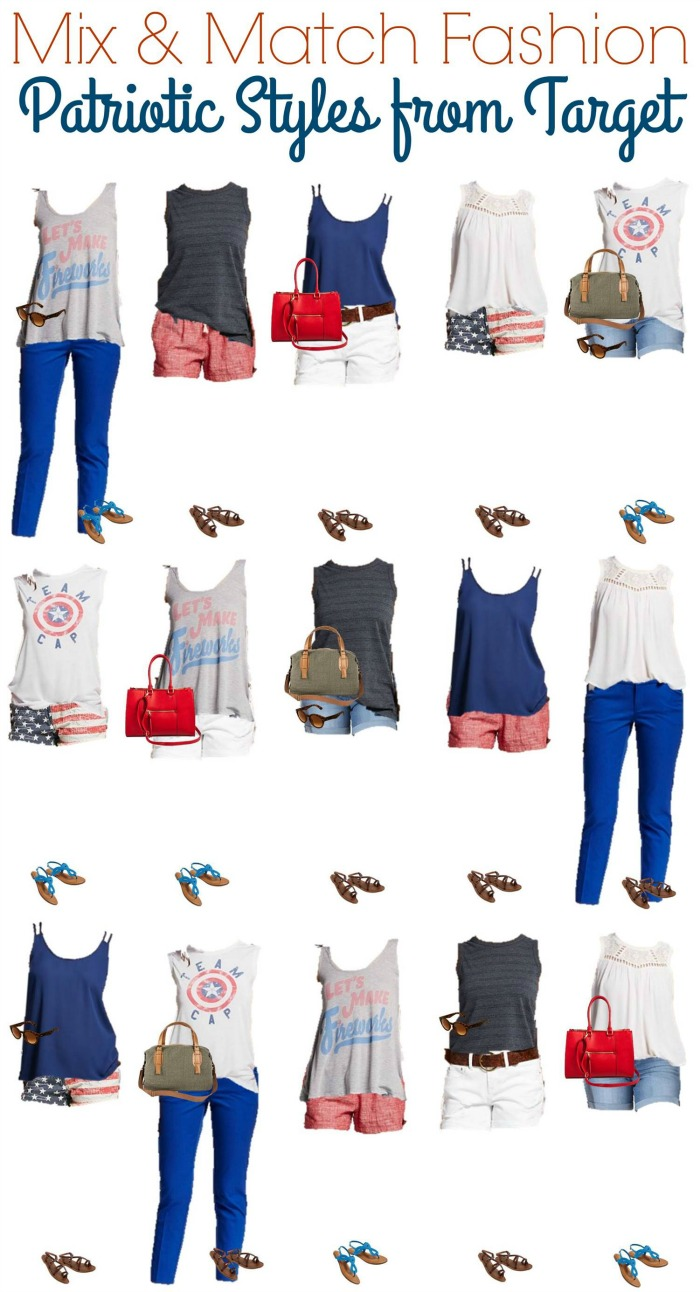 Summer Patriotic Mix and Match Wardrobe from Target