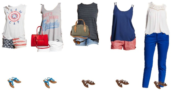 Patriotic Summer Mix and Match Fashion - Target 6-10