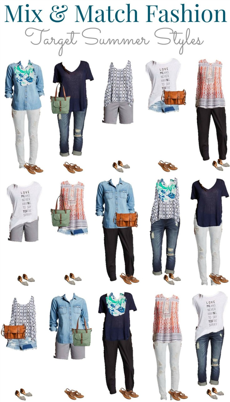 Target Summer Into Fall Mix And Match Wardrobe Style On Main