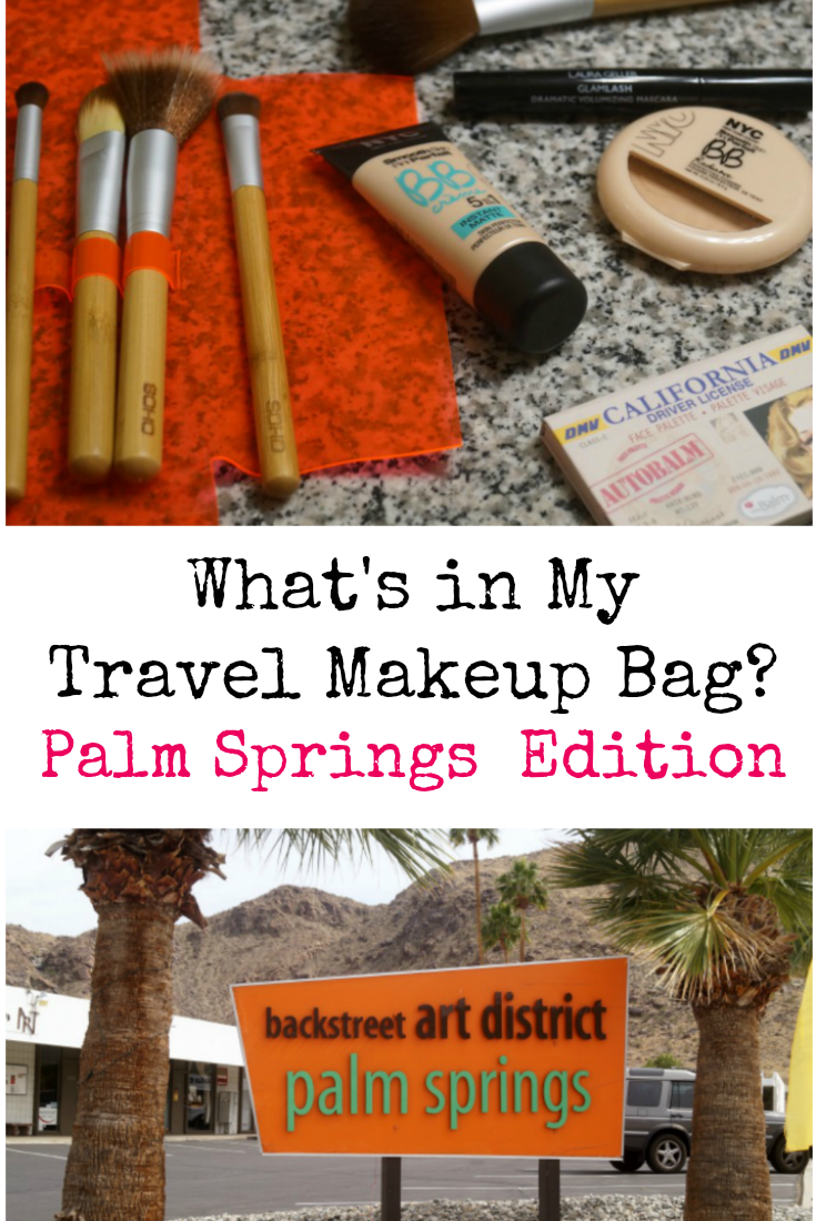 What 39 s in my travel makeup bag palm springs edition for Travel to palm springs