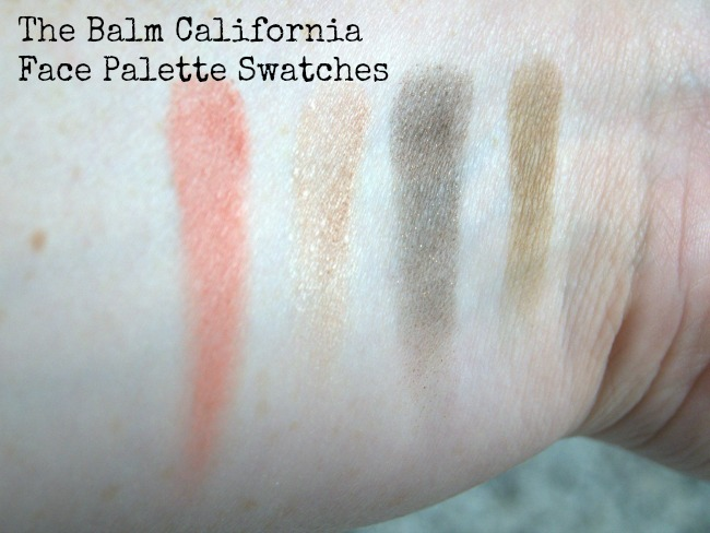 the balm california face palette swatches