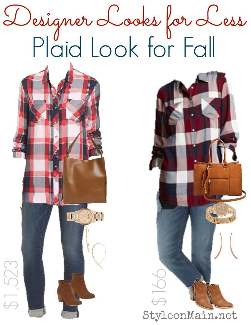 Casual Fall Plaid Style in High End and Budget versions. Can you tell the difference?