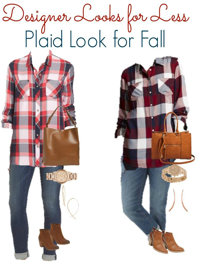Casual fall plaid style.  Get the Look for Less