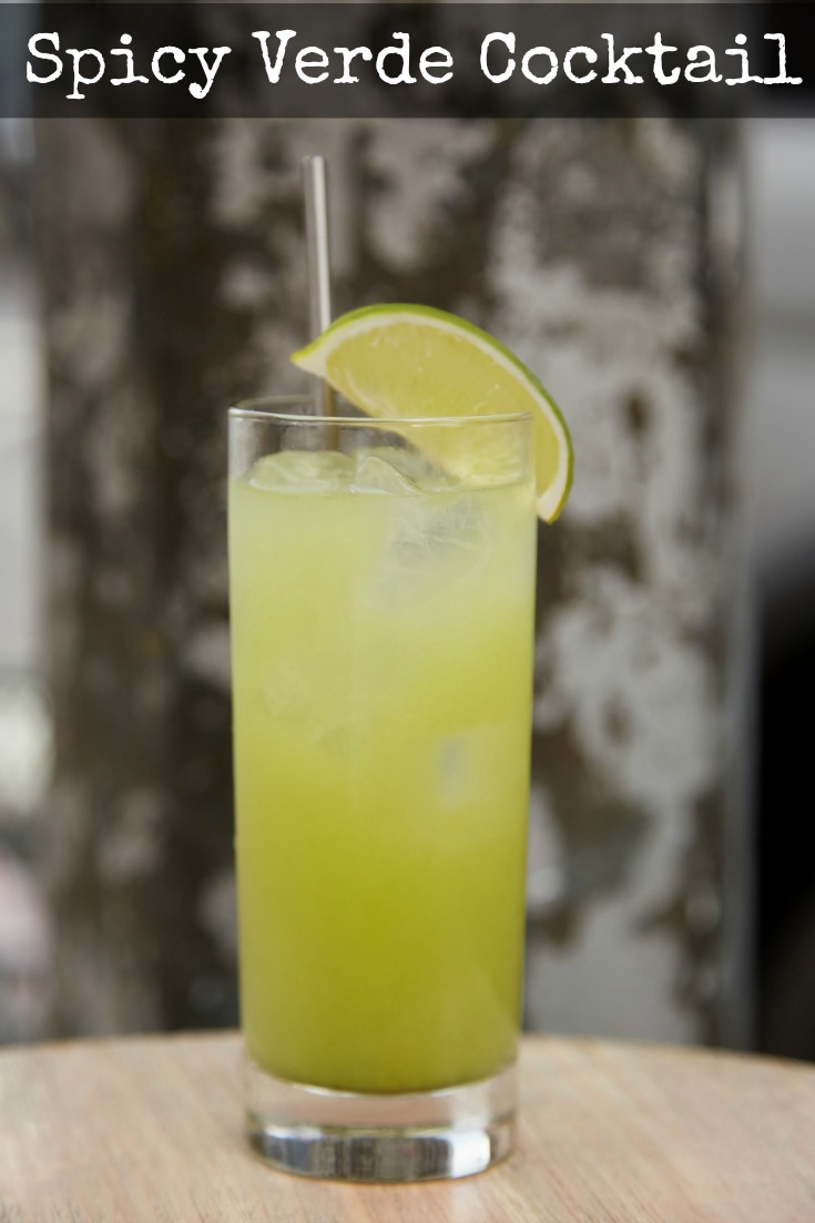 A great combination of sweet and spicy, this Spicy Verde cocktail will become a new favorite.