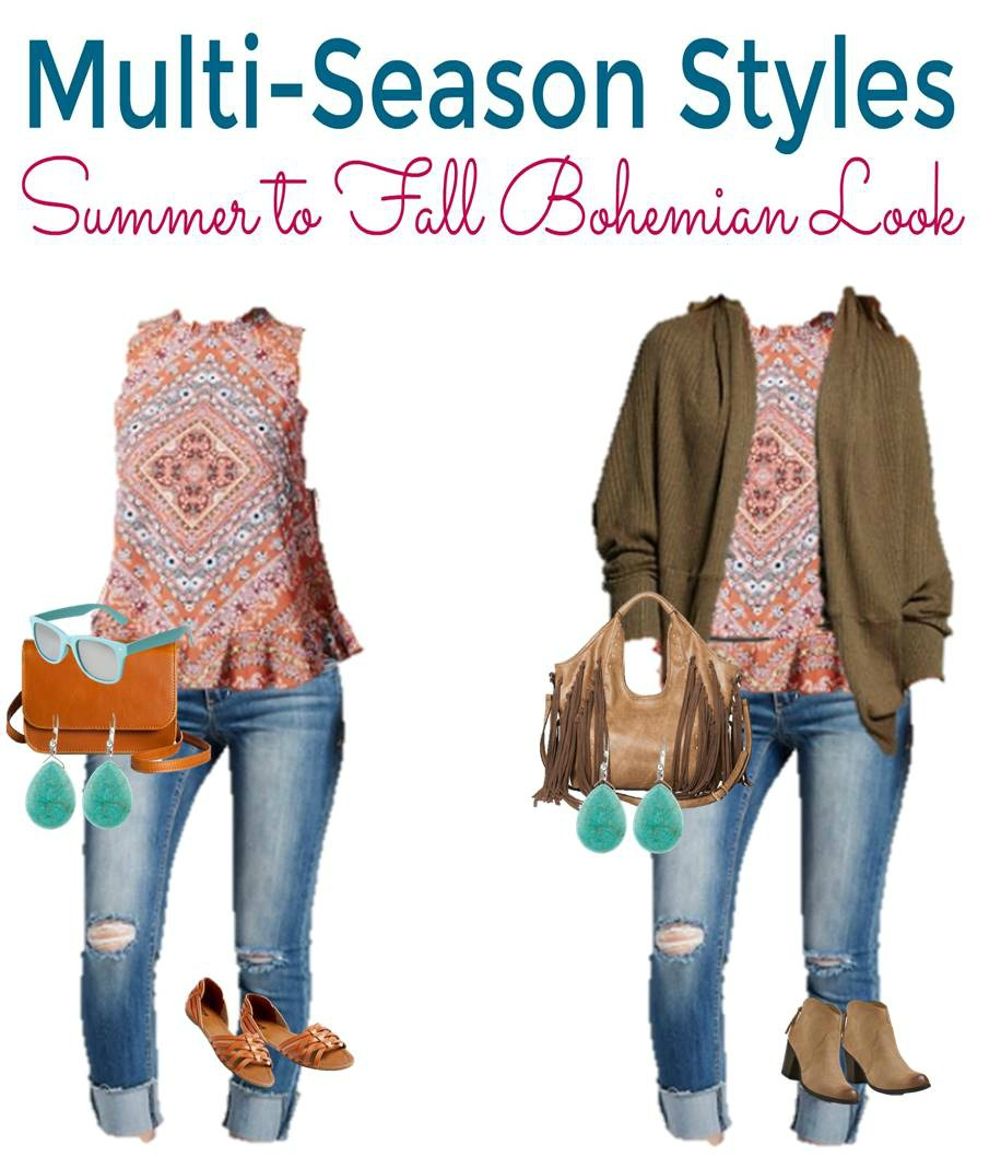 Transition your Boho Chic look from Sumemr to Fall, easily