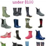 16 Fabulous Designer Rain Boots that Are Under $100