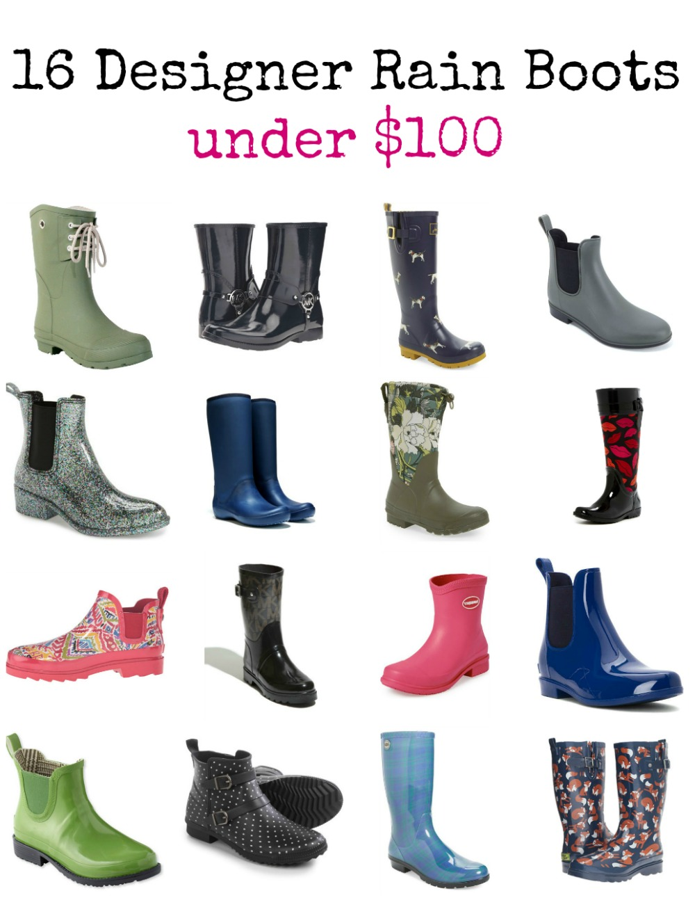 16 great designer rain boot styles that are all under $100