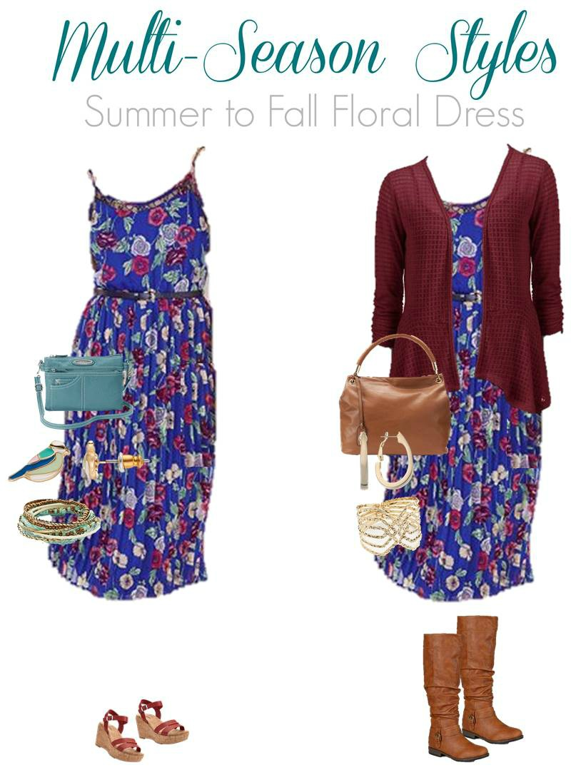 Transition your strappy summer dress into an outfit that's perfect for fall.