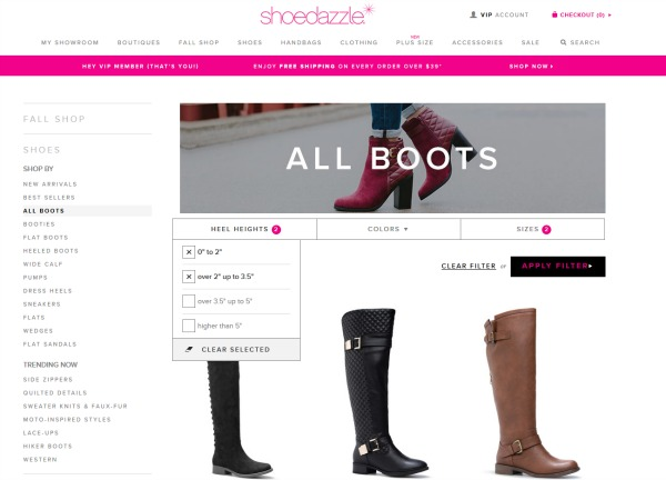 Shoedazzle screenshot