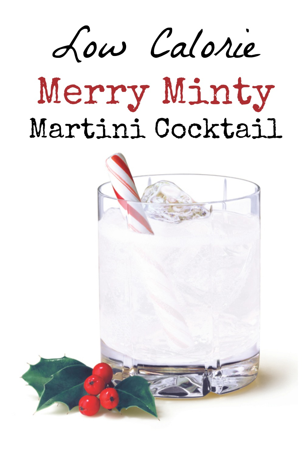 This low calorie Merry Minty Martini cocktail taste like a holiday dessert