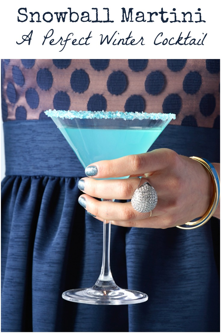 This Snowball Martini is the perfect winter cocktail, and great for parties