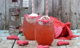 Alcoholic Strawberry Sunshine Cocktail Float for Adults