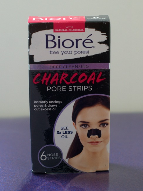 biore activated charcoal pore strips skin care product
