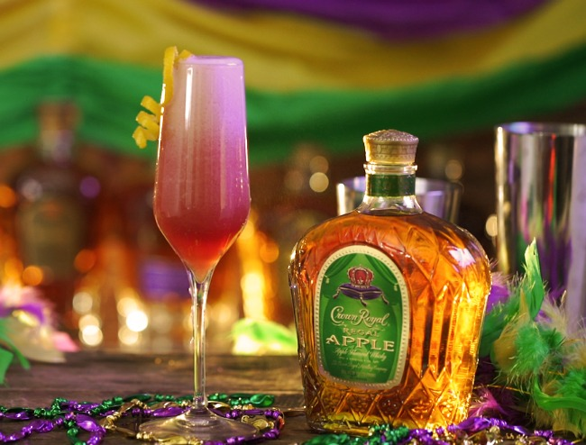 Carnival queen cocktail that's great for Mardi Gras or a bachelorette party