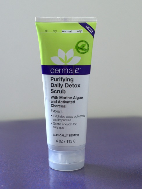 Derma E activated charcoal facial scrub