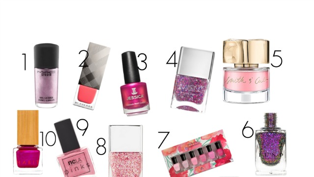 Great pink nail lacquer shades for spring