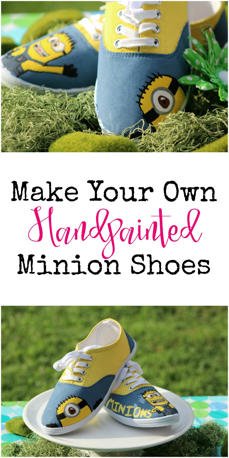How to make your own handpainted Minion Shoes to celebrate Despicable Me