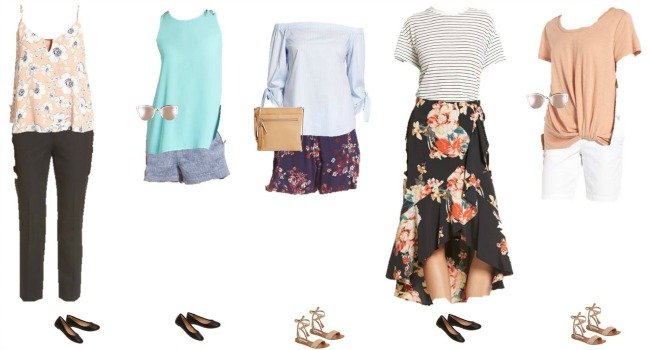 Nordstrom Capsule Wardrobe for Summer 2017