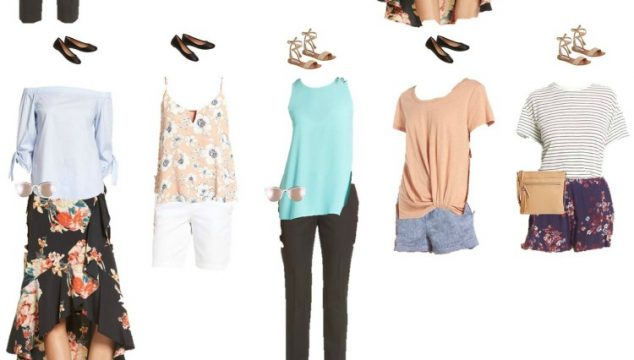 Nordstrom Mix and Match Wardrobe for Summer 2017