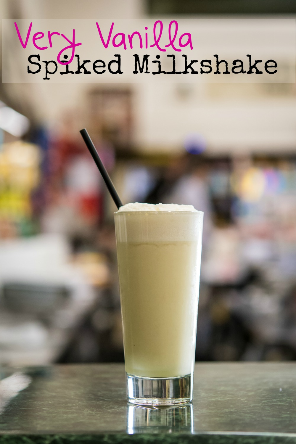 This Very Vanilla boozy milkshake is spiked with bourbon whiskey for just the right amount of alcohol. It's a great summer cocktail drink that you can whip up in no time. It doubles as dessert, too.