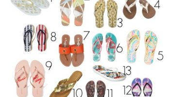13 Great Flip Flops for Summer 2017