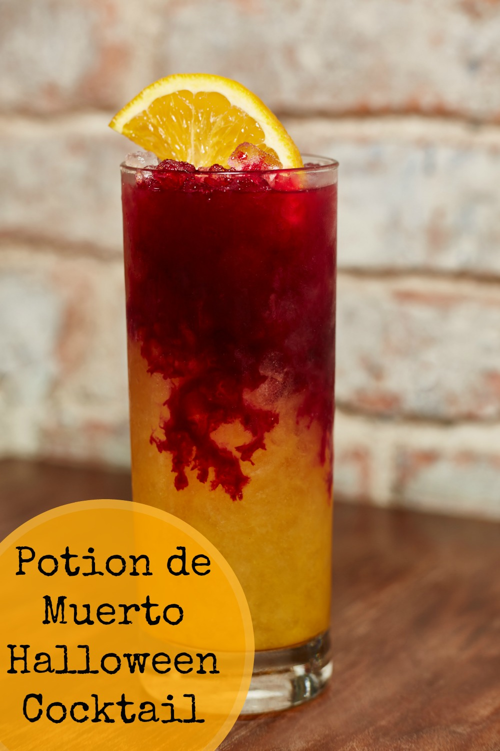 Make Potion de Muerto cocktails for Halloween. No one needs to know how easy this tequila based gory looking drink really is!