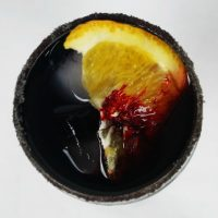 An easy to make Vampire Sangria cocktail that's perfect for Halloween