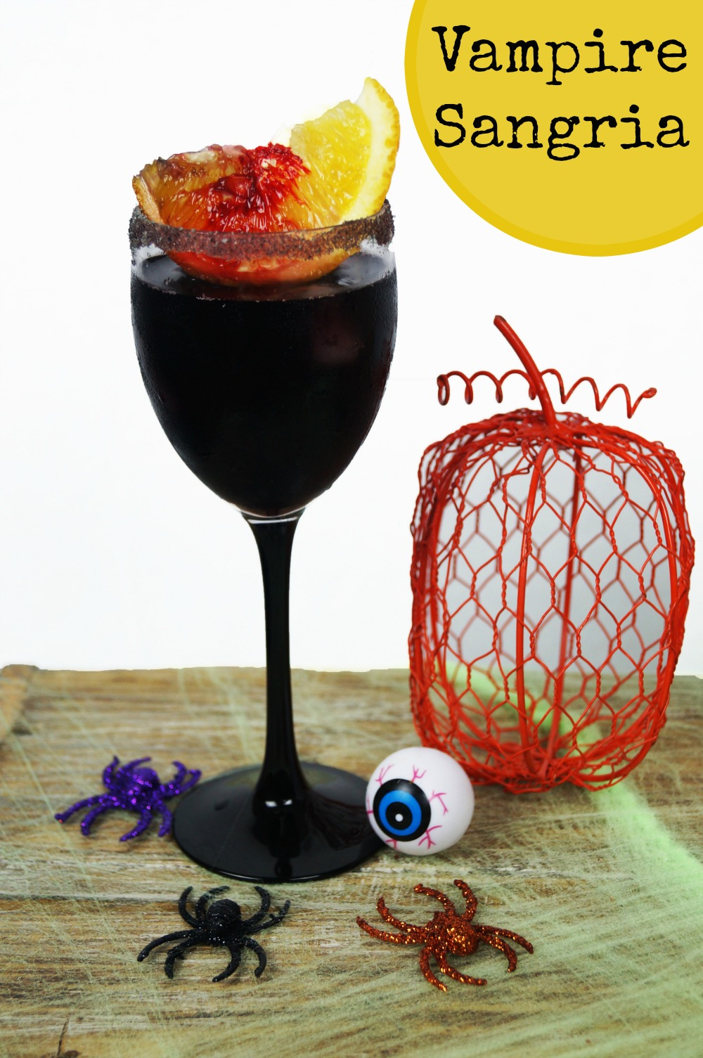 Make this easy Vampire Sangria cocktail that's perfect for Halloween. Not too spooky, and can be made in a batch for a party.