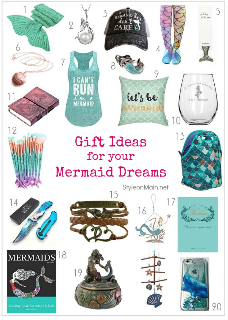 20 amazing gift ideas for the mermaid lover in your life. Most are from Amazon, so you can get them quickly, too