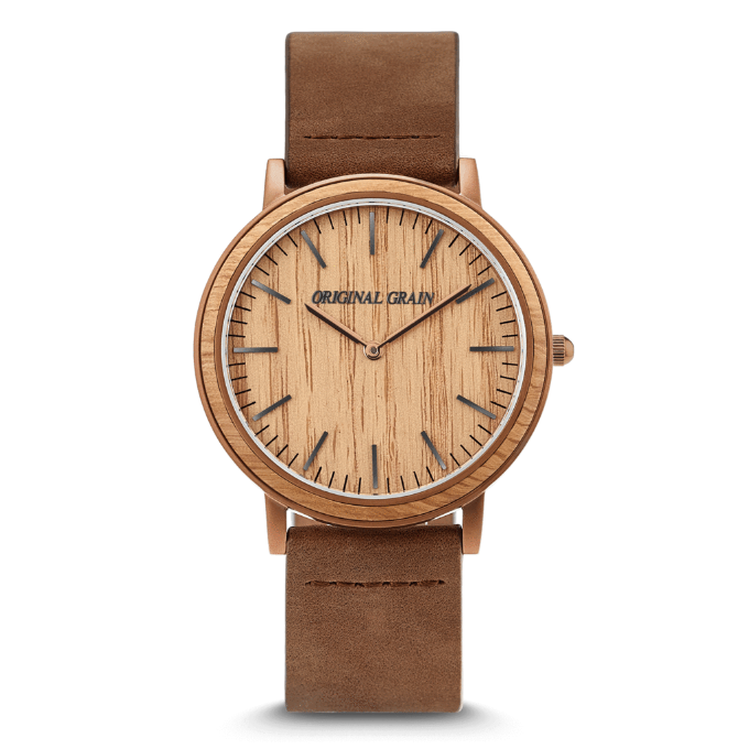 Original Grain Esresso Whiskey Minimalist watch