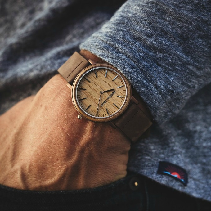 Original Grain Minimalist espresso watch