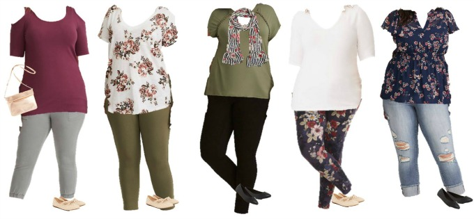 Torrid mix and match capsule wardrobe for plus size women