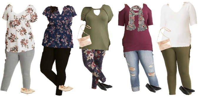 Torrid mix and match capsule wardrobe for spring