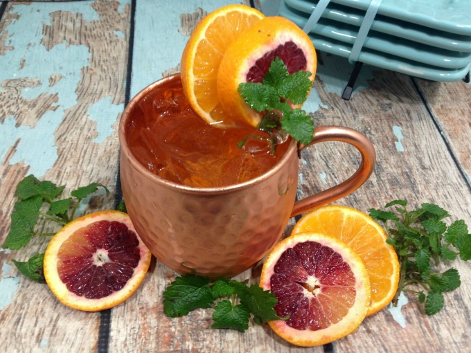 An easy to make blood orange moscow mule cocktail