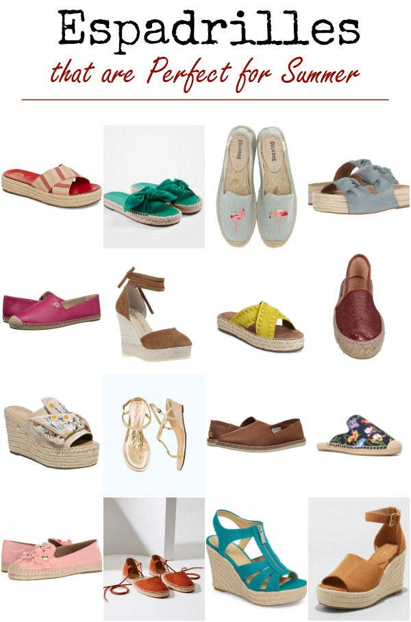 Espadrilles are one of the must have shoes for your summer wardrobe. We've rounded up 16 of our favorite pairs, from fab designers, at all pricepoints. Find out why you should add a pair or two to your closet.