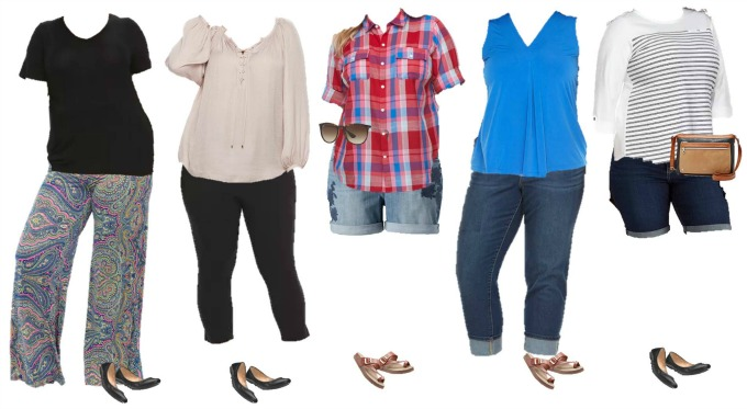 9b8ae1a6a33c Kohls Mix and Match Plus Sized Wardrobe for Summer - Style on Main