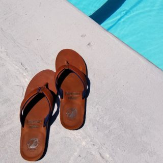 Hari Mari X Nokona Flip Flops at the pool
