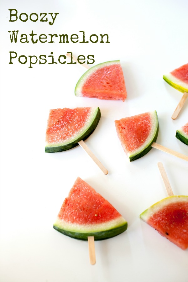 Make these simple and easy Boozy Watermelon Margarita adult popsicles. They're perfect for summer, and basically a hands off cocktail for adults.