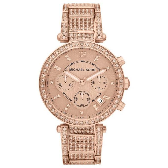 Michael Kors Uptown Glam Parker Rose Gold Watch