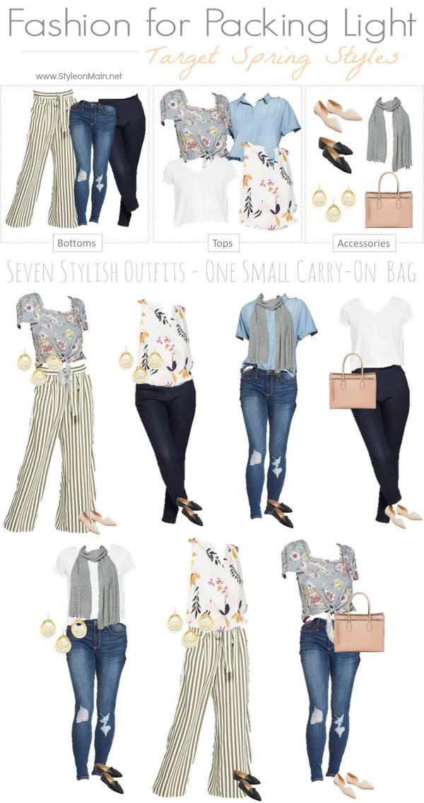 Are you going places? Be sure to check out this travel capsule wardrobe that gets you 7 great outfits from 12 pieces, including your accessories, handbag, and shoes. It easily packs in a carry on, and it's all from Target.